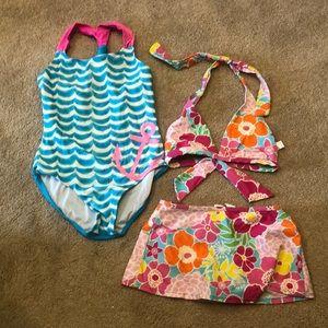 Other - Girls Swimsuit Bundle Bikini and One Piece